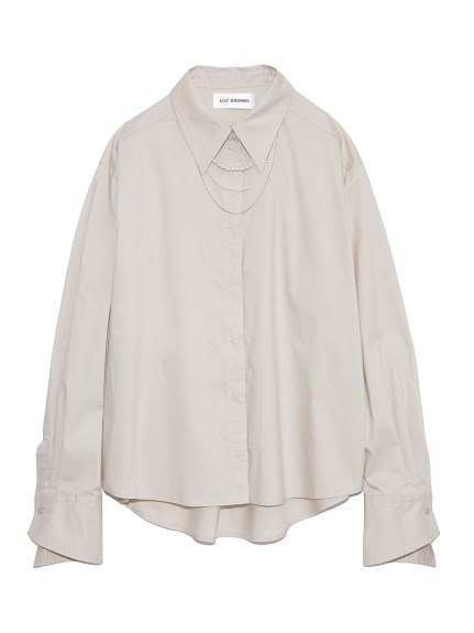 ビジューシャツ(BEG-F)