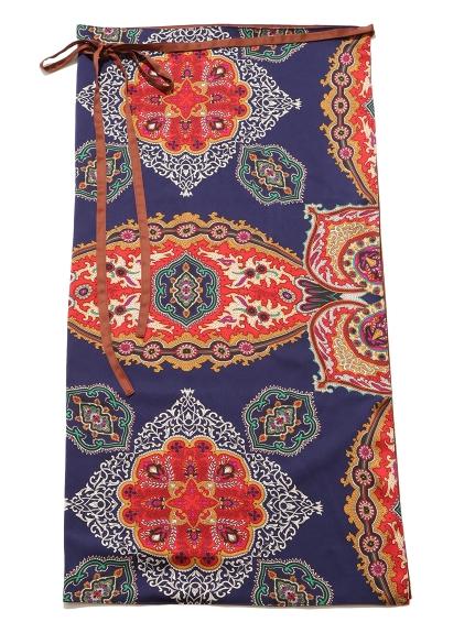 リバーシブル巻スカーフ