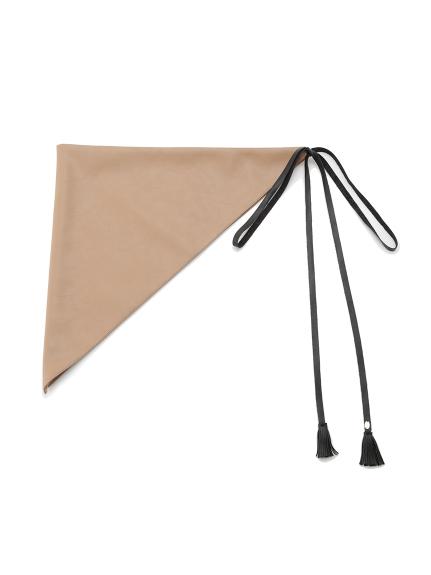 3wayレザースカーフ(BEG-F)