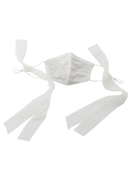 巾着付リボンマスクセット(WHT-F)