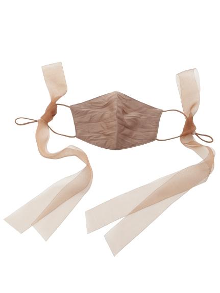 巾着付リボンマスクセット(BRW-F)
