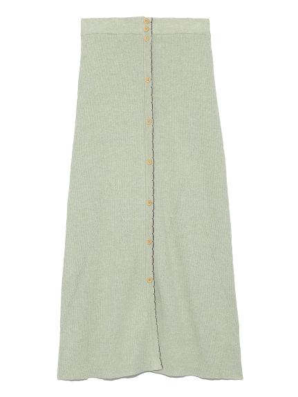ボタニカルニットスカート