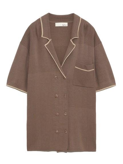 ラインニットシャツ(MOC-F)