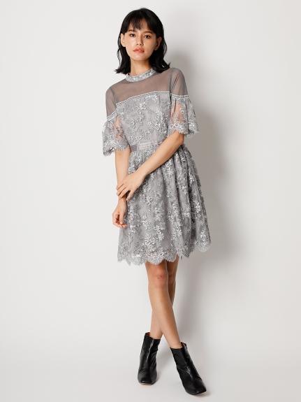 コード刺繍ドレス(ミニワンピース)|ワンピース|Lily Brown