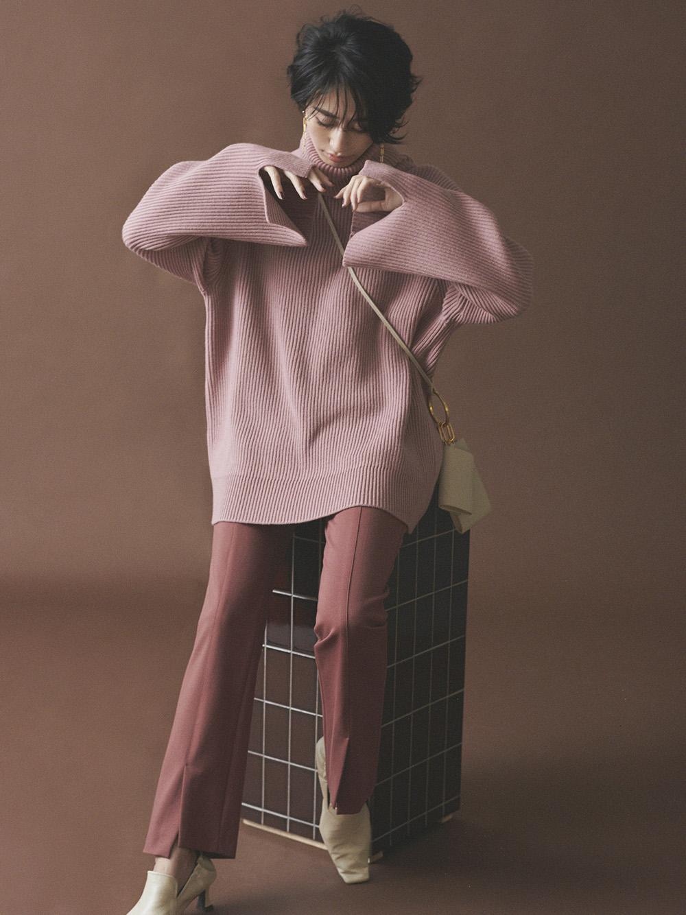 裾段差ベンツジャージパンツ(PNK-0)