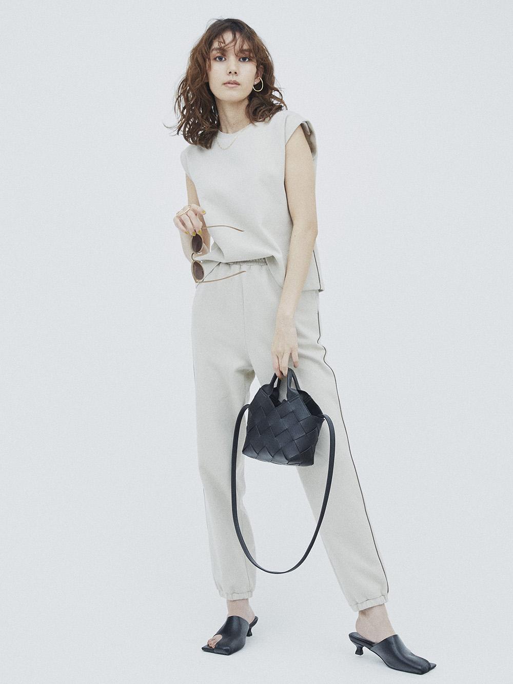 裾絞りスウェットパンツ(IVR-0)