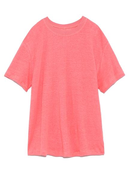 リネン100%ハイラインTシャツ