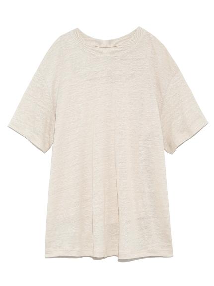 リネン100%ハイラインTシャツ(BEG-0)