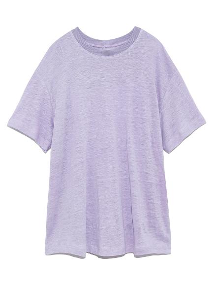 リネン100%ハイラインTシャツ(LAV-0)