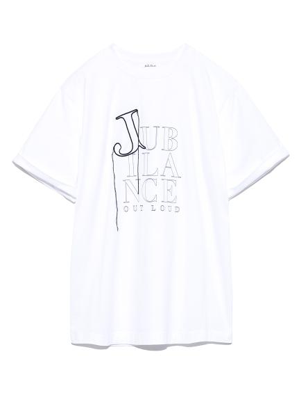 3段ロゴプリントTシャツ