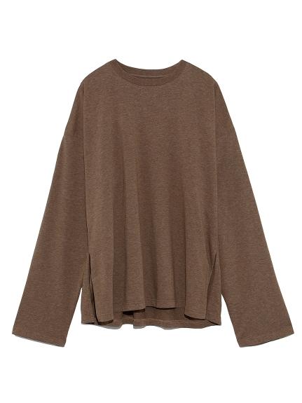 サイドスリットロングスリーブTシャツ