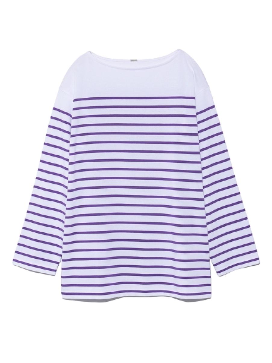 ビッグシルエットボーダ-Tシャツ(PPL-F)