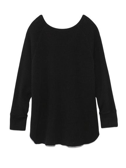 2wayワッフルカットソーロングスリーブTシャツ