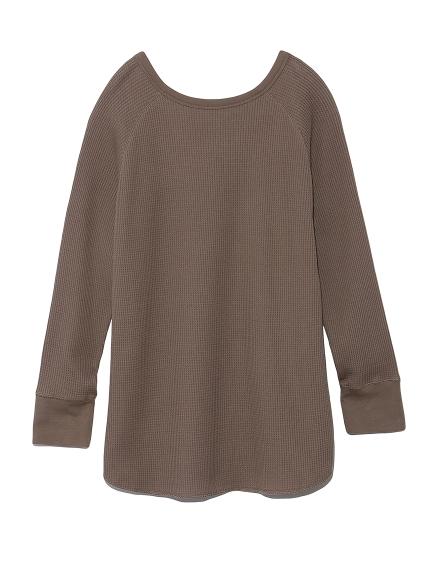 2wayワッフルカットソーロングスリーブTシャツ(MOC-F)