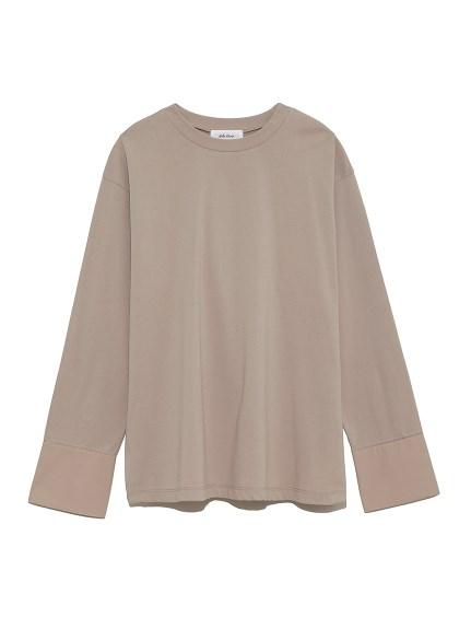 カフスドッキングロングTシャツ(BEG-0)