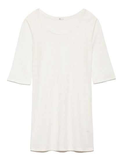 ラウンドテレコTシャツ(WHT-0)
