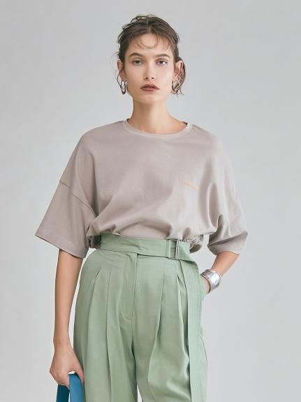 バックロゴプリントTシャツ(BEG-F)