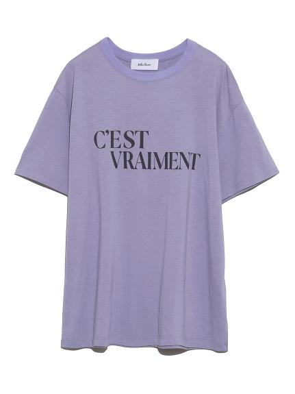 グラフィックロゴプリントTシャツ(LAV-0)