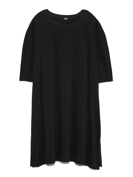 ショルダータックチュニックTシャツ(BLK-F)