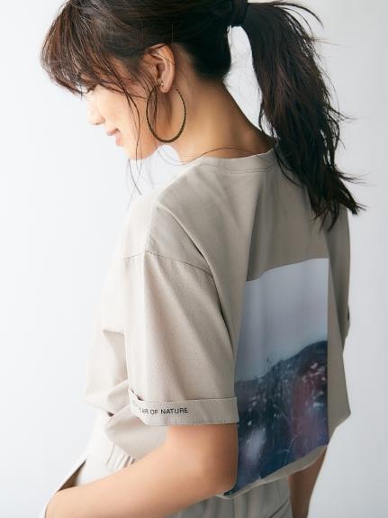 バックプリントロゴTシャツ(BEG-0)