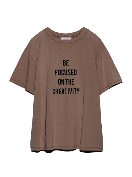 かすれ4段ロゴプリントTシャツ