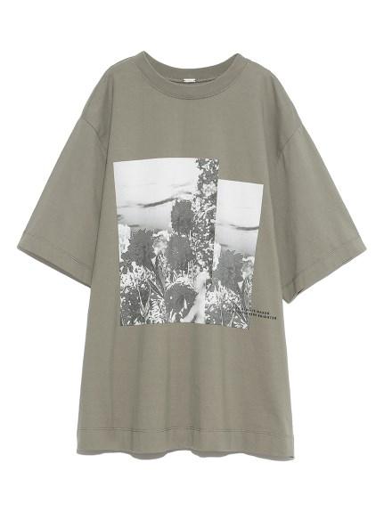 グラフィックプリントTシャツ(GRN-0)