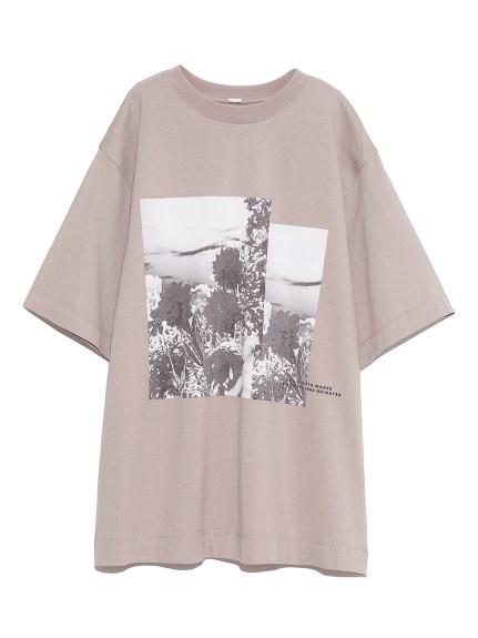 グラフィックプリントTシャツ(BEG-0)