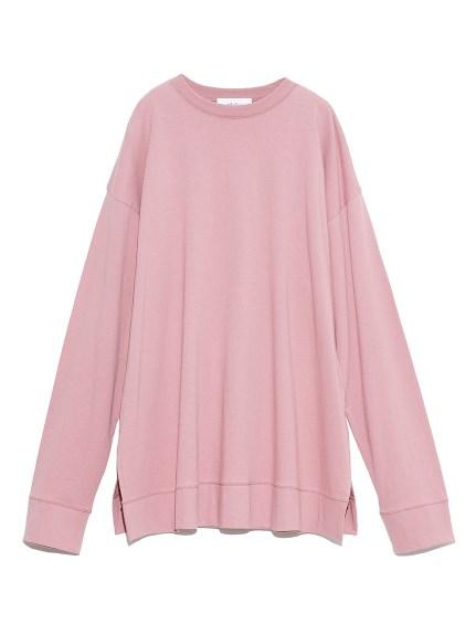 裾切替サイドスリットロングTシャツ(PNK-F)