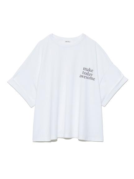 短丈ワイドグラフィックTシャツ(WHT-F)