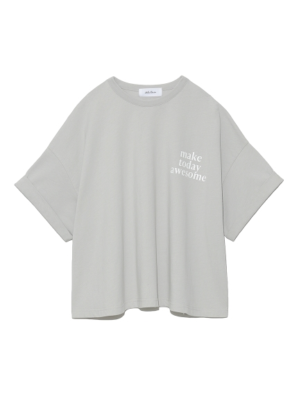 短丈ワイドグラフィックTシャツ(BEG-F)
