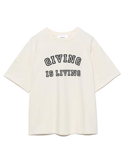 フロッキープリントTシャツ(WHT-0)