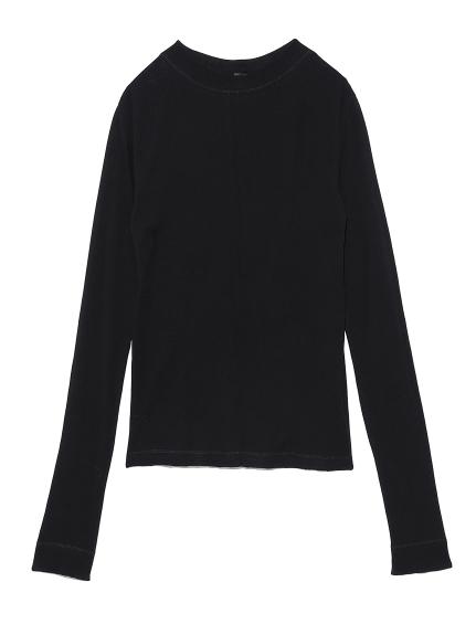 シアーテレココンパクトロングTシャツ(BLK-0)
