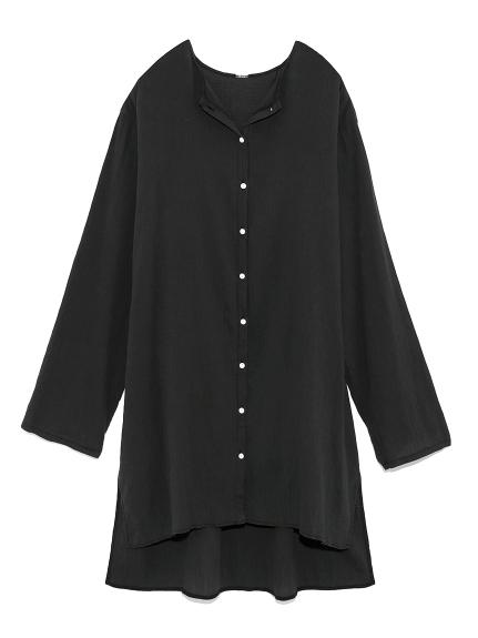 楊柳ノーカラーシャツ