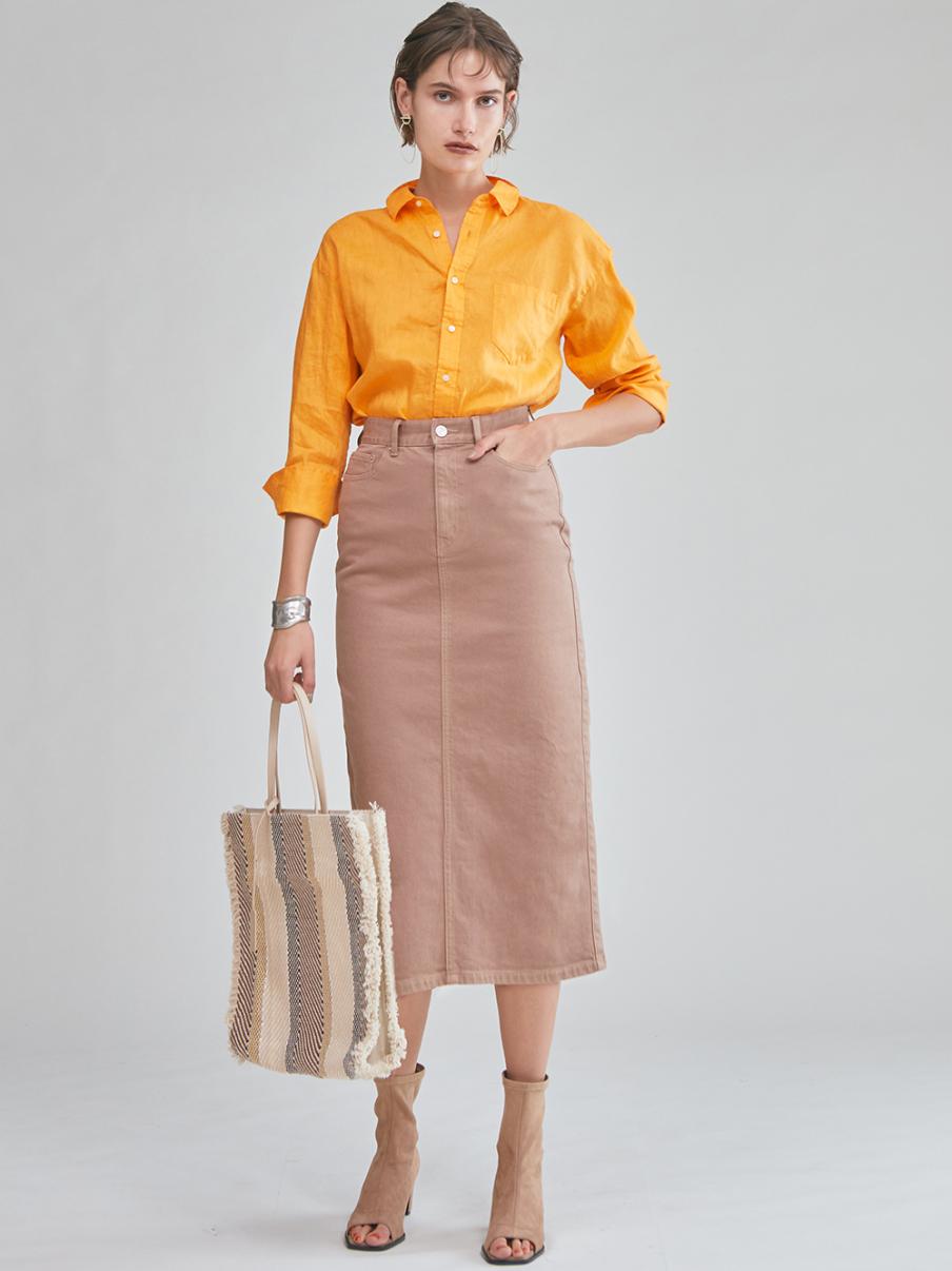 カフスデザインリネンシャツ