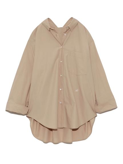 バックタックシャツ(BEG-F)