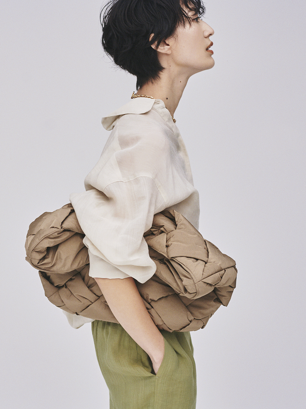 シアーセットアップシャツジャケット(IVR-0)