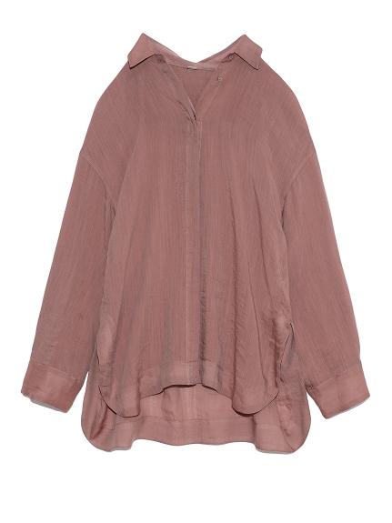 シアーセットアップシャツジャケット(PNK-0)