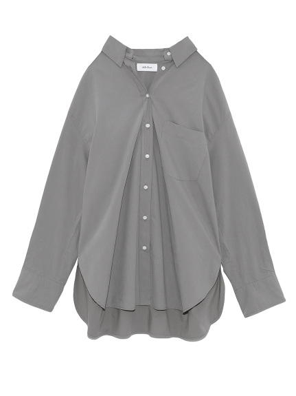 隠し釦ダウンベーシックシャツ(CGRY-0)
