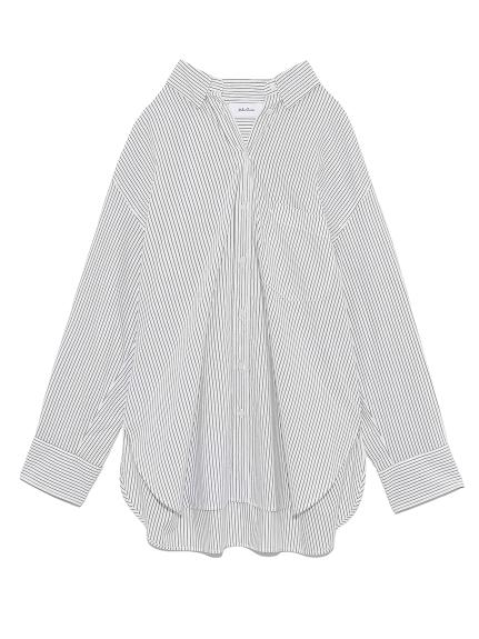 隠し釦ダウンベーシックシャツ(BLK-0)