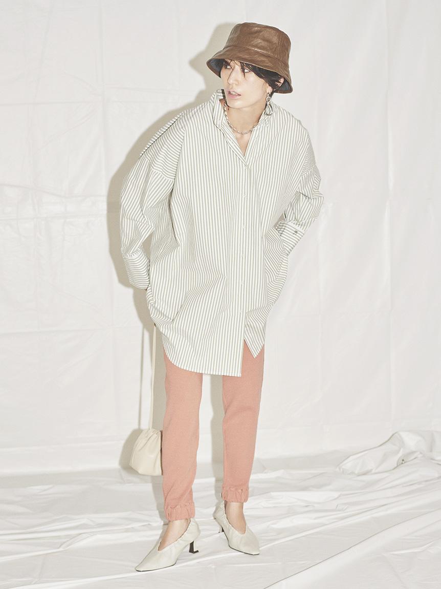 変形パターンキャンペーンロングシャツ