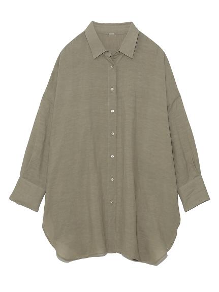 ロングリネンシャツ(OLV-F)