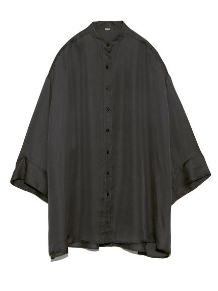 シアーSET UP 前あきスキッパーシャツ(CGRY-0)