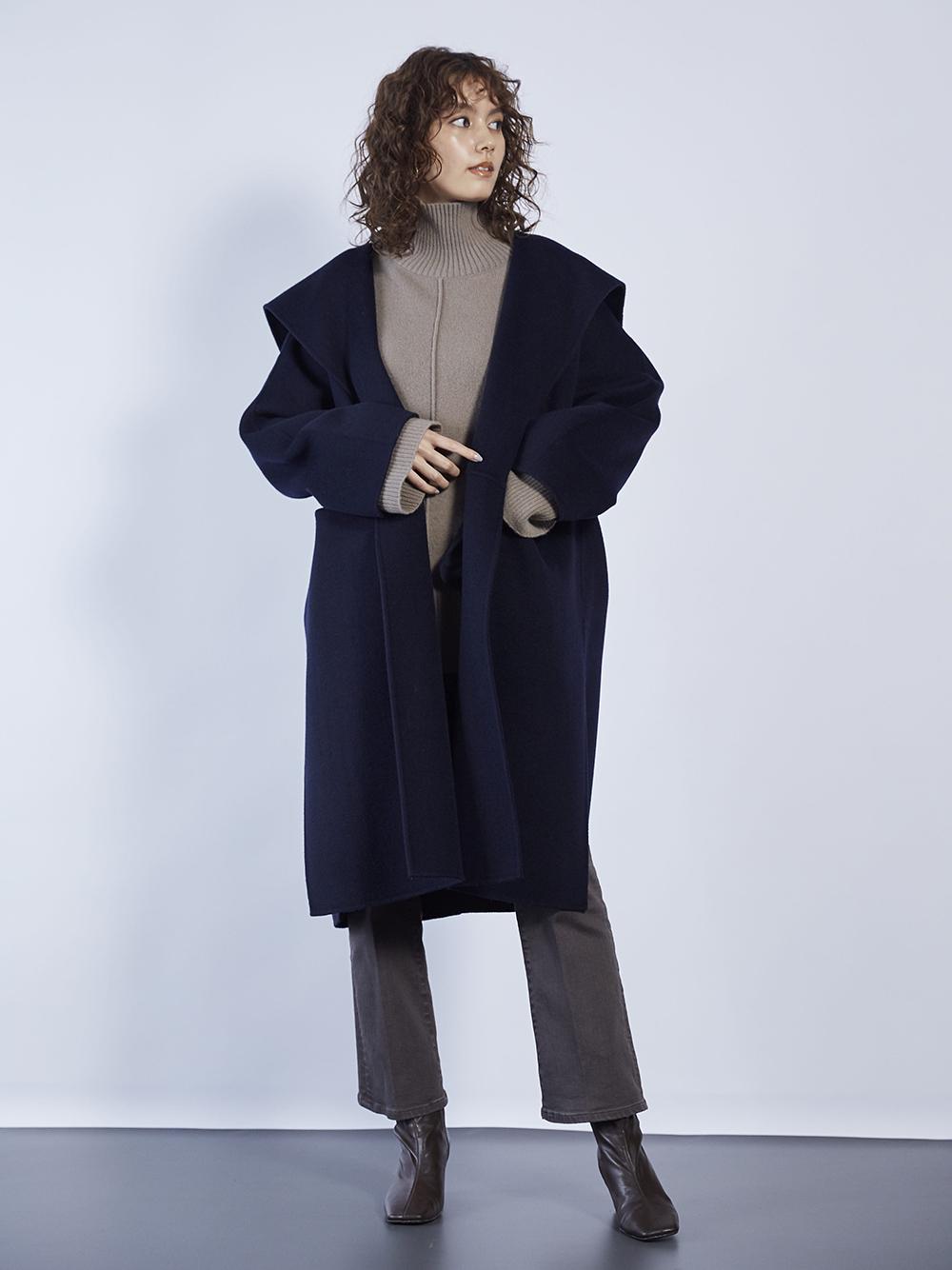 衿デザインハーフコート(NVY-0)