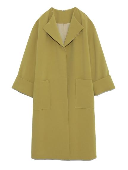 ラペルカラーボックス袖コート(OLV-0)