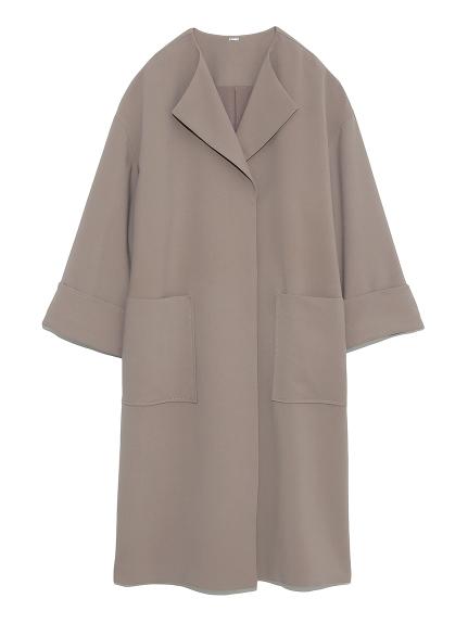 ラペルカラーボックス袖コート(MOC-0)