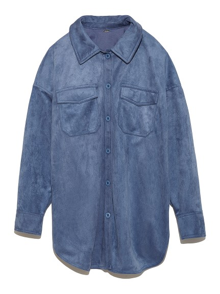 エコレザーシャツカバーオール(BLU-F)