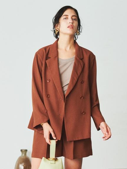 スリーピースシャツライクダブルジャケット