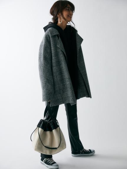 襟2wayハーフジャケット