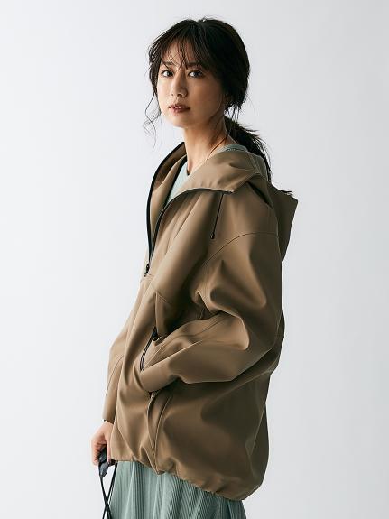 フェイクレザーアノラックジャケット