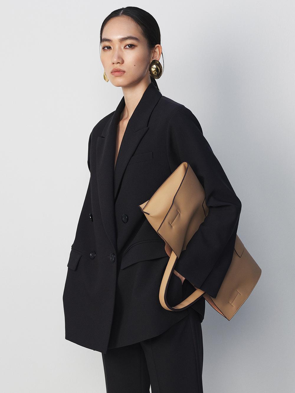 3点SETスーツジャケット(BLK-0)